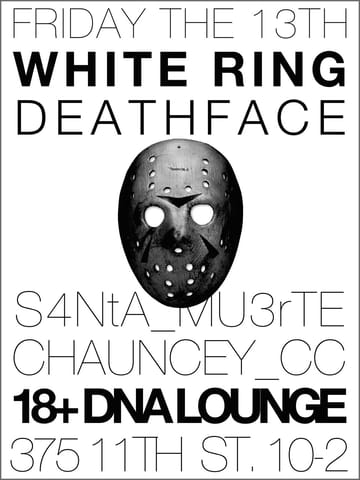 dna lounge white ring 13 jul 2012 fri