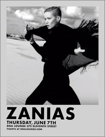 Zanias! Performing Live: Zanias. Plus guests, TBA!