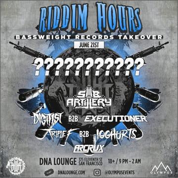 Riddim Hours: Bassweight Records Flyer