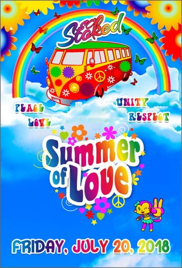 So Stoked: Summer of Love! Trance, D+B, Hardcore, Gabber, House, Bass! ☮️ 	🌸 ✌️ 🌸 In the summer of 1967, hippies 	converged on San Francisco's Haight-Ashbury to celebrate LOVE and 	PEACE and created a counterculture movement of freedom and 	self-expression. They rejected the conformist and materialistic 	values of modern life and placed new emphasis on sharing and 	community. More than fifty years later the messages and values of 	that era continue to inspire us.