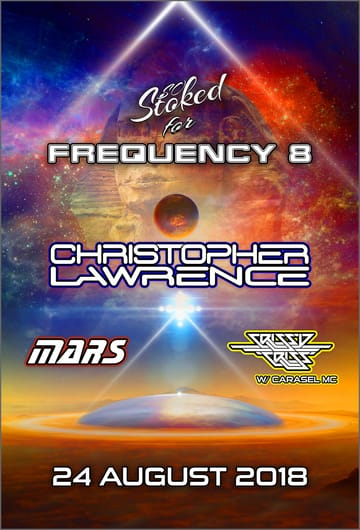 "So Stoked: Frequency 8! 	Trance, D+B, Hardcore, House! There was a time when dance 	music was 145bpm, DJs played vinyl, Live 105 played ""Save the 	Rave"" and F-8 records had a line of Kandi Kids down the block 	trying to get map point tickets. After a long voyage in deep space, 	Frequency 8 is once again landing in San Francisco. With the So 	Stoked vibe, Frequency 8 feel, and alien technology brought back to 	earth, the adventure is sure to be unforgettable."
