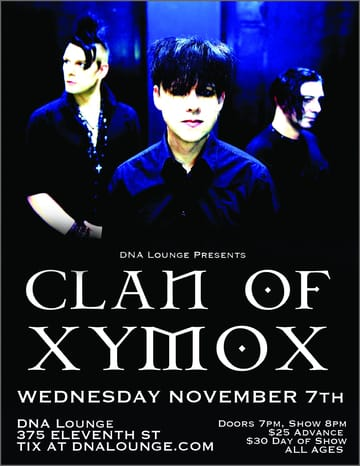 "Clan of Xymox! 	Gothic! The combination of dreamy minor harmonies, Ambient, 	Pop and Electro Dance fused together with the elegance of the 4AD 	label, made Clan of Xymox a rare event in the independent wave scene 	of the 80s. Both the albums ""Clan of Xymox"" and 	""Medusa"" are rightfully regarded as classic releases that 	have lost none of their fascination Since their inception in 1981, 	their music has been constantly evolving, sometimes challenging but 	always breathtaking."