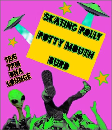 Skating Polly! 	Rock, Punk, Ugly Pop! Skating Polly is a sister duo from 	Oklahoma raised on '70s punk and early-'90s alt-rock. Their 	sophomore album, Lost Wonderfuls, was produced by Exene Cervenka of 	X and mixed by Kliph Scurlock of The Flaming Lips. Skating Polly 	takes a minimalist approach to songwriting, with the two largely 	self-taught musicians, crafting super-catchy melodies. Along with 	earning the adoration of Cervenka, Skating Polly has found fans in 	Rosanne Cash and Sean Lennon, taken the stage with punk legends like 	Mike Watt, and opened up for such indie heavy-hitters as Deerhoof 	and Band of Horses.