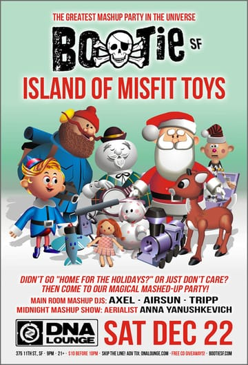Bootie SF: Island of Misfit Toys Flyer