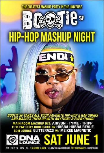 Bootie SF: Hip-Hop Mashup Night Flyer